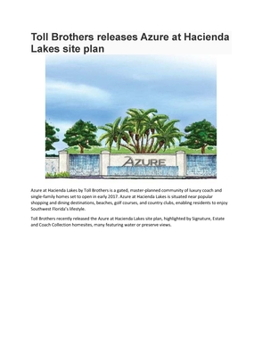 Toll Brothers releases Azure at Hacienda Lakes site plan.pdf