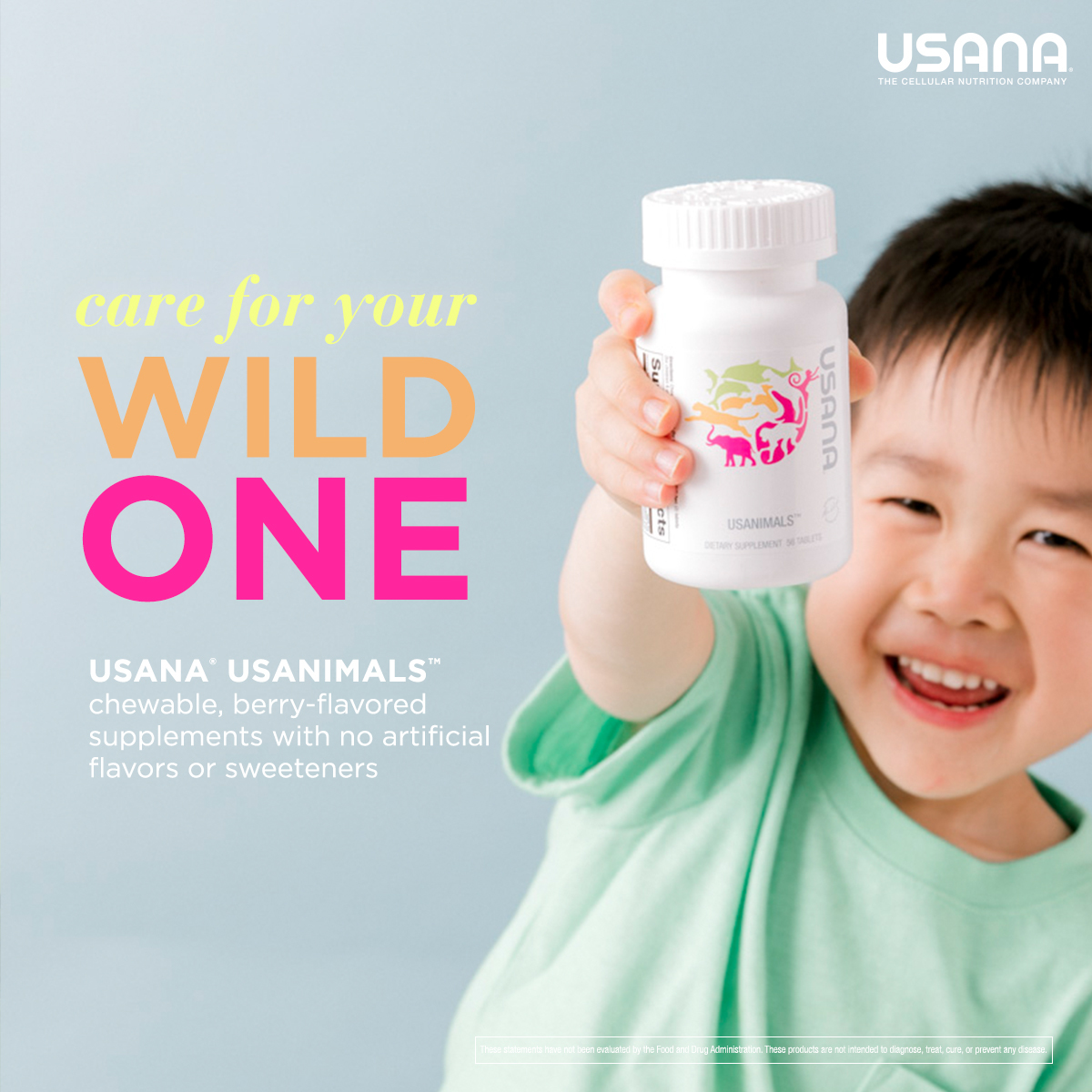 Usanimals: Care for Your Wild One Social Shareable